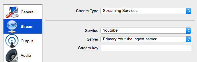 stream settings